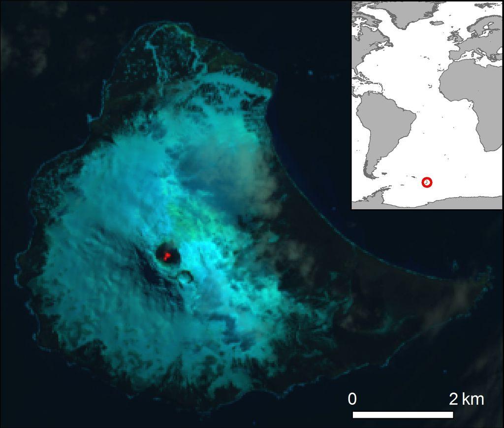 Saunders Island False Colour Landsat-8 images