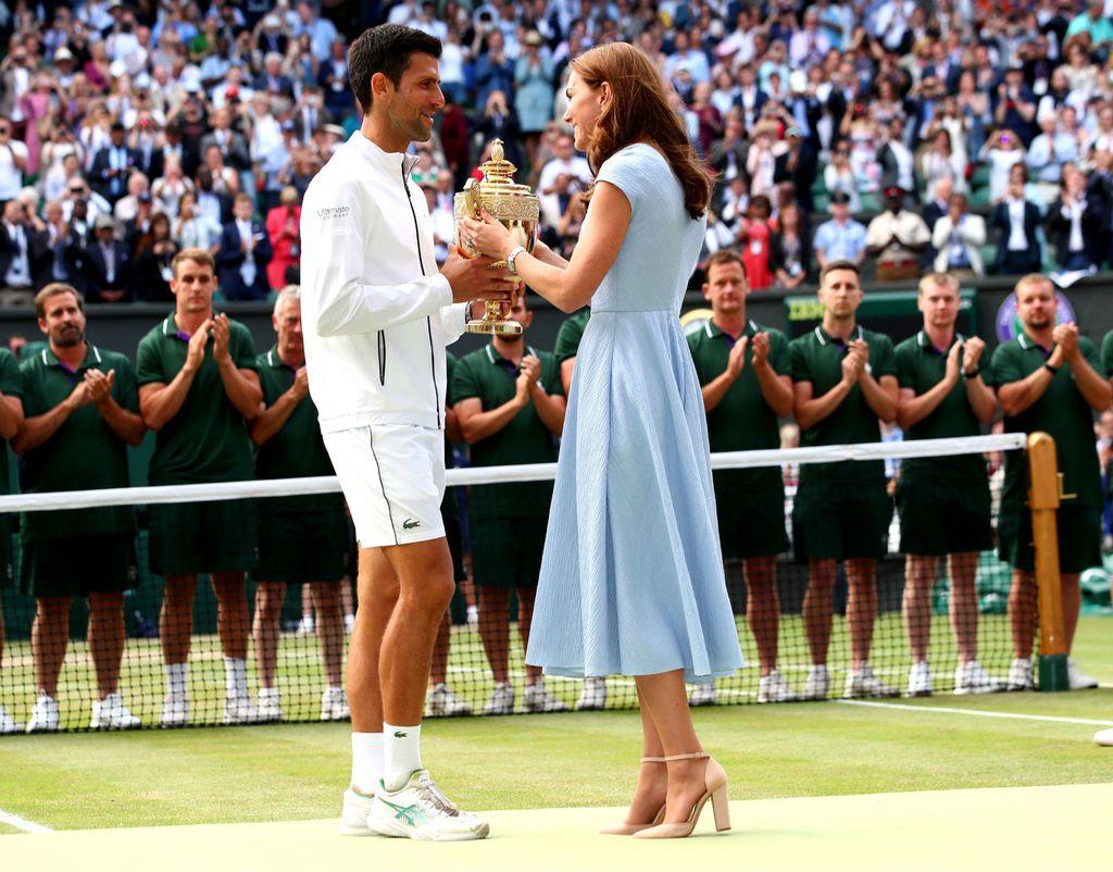 Kombinacija Catherine Middleton za finale Wimbledona - 1