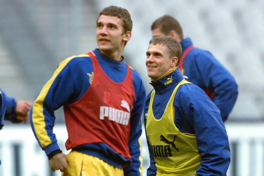 Andrij Ševčenko i Serhij Rebrov (Foto: AFP)