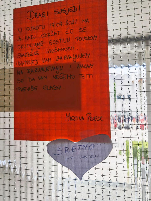 Poruka Martine Pelesk susjedima