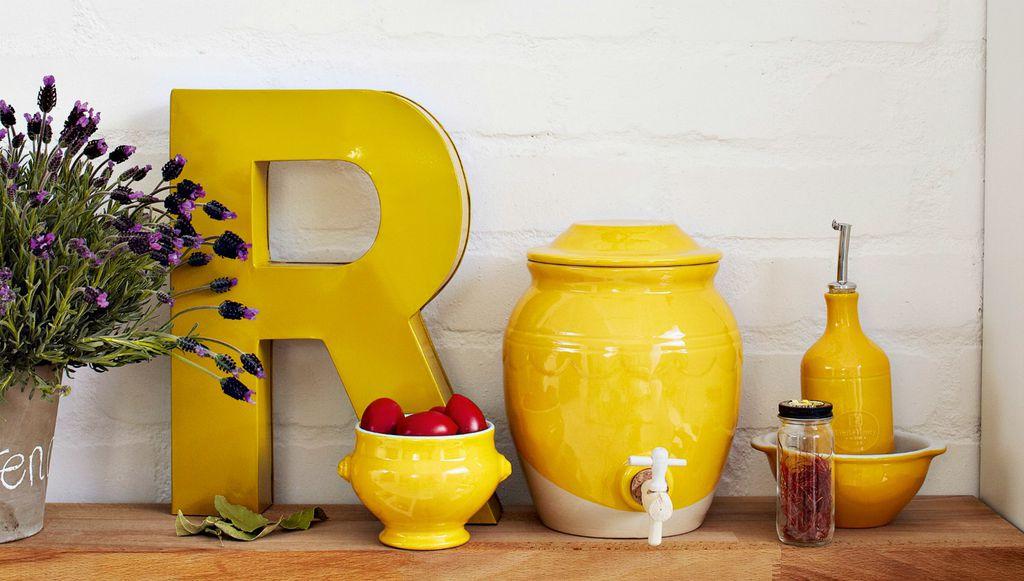 Žuti detalji u kuhinji