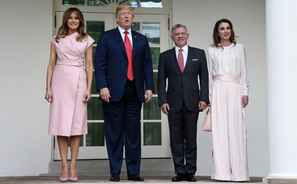 Melania Trump, Donald Trum, Abdullah II. i kraljica Rania