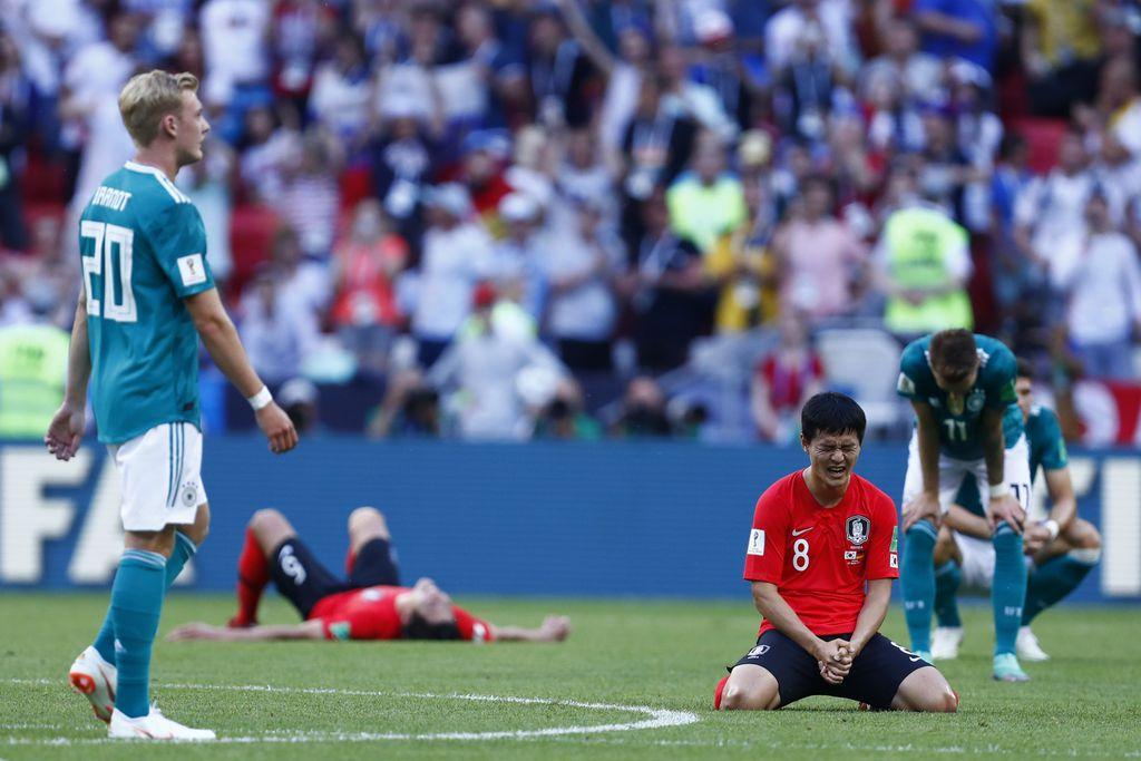 Kraj utakmice Koreja - Njemačka (Foto: AFP)
