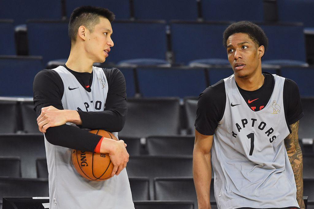 Jeremy Lin i Patrick McCaw (Foto: AFP)