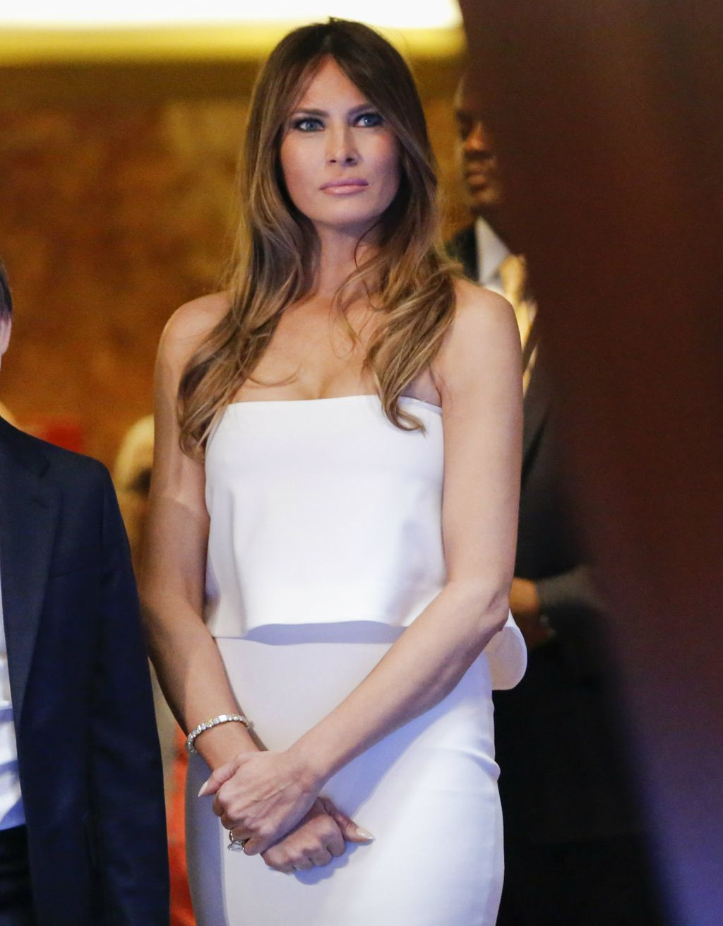 Melania 2015. godine na objavi Trumpove prve kandidature