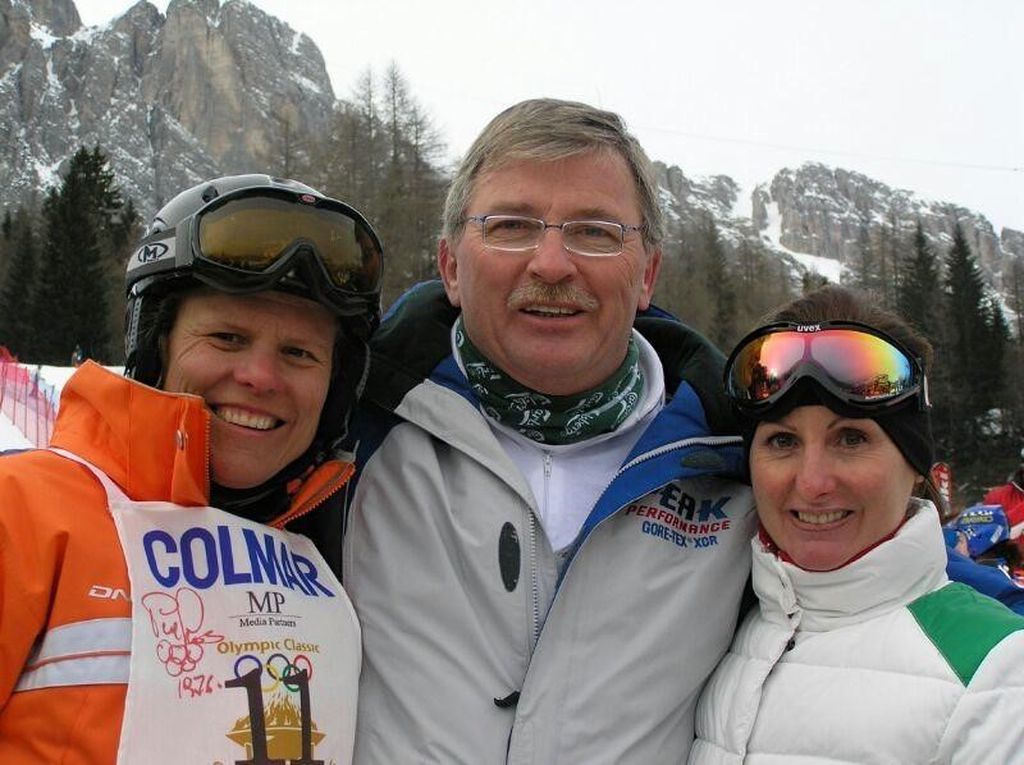 Momir Jelovac s olimpijskim pobjednicima - Paola Magoni i Debbie Amarstrong