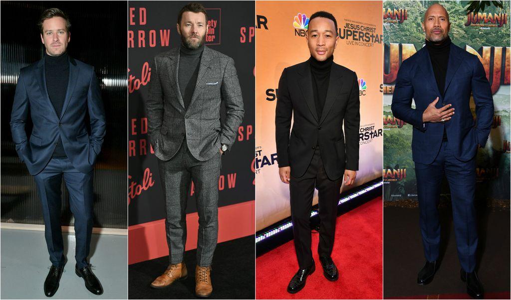 Odijelo i dolčevita stari su adut iz muškog ormara koji vole i mnogi poznati muškarci