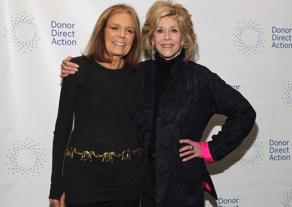 Gloria Steinem i Jane Fonda, također poznata aktivistica