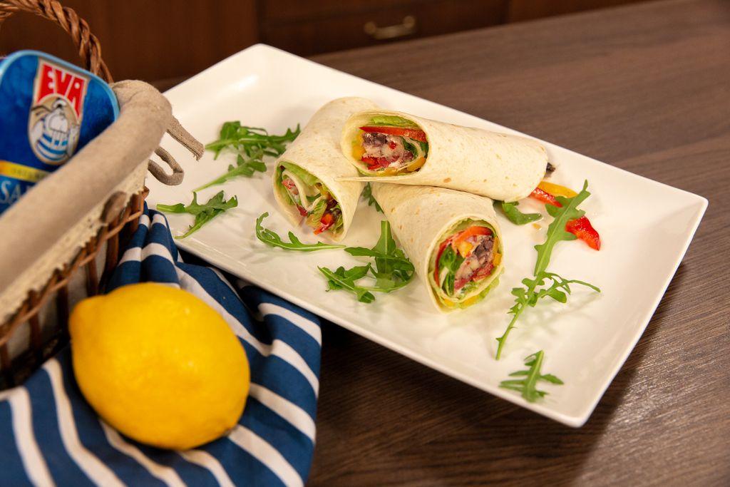 Wrap s povrćem i sardinama