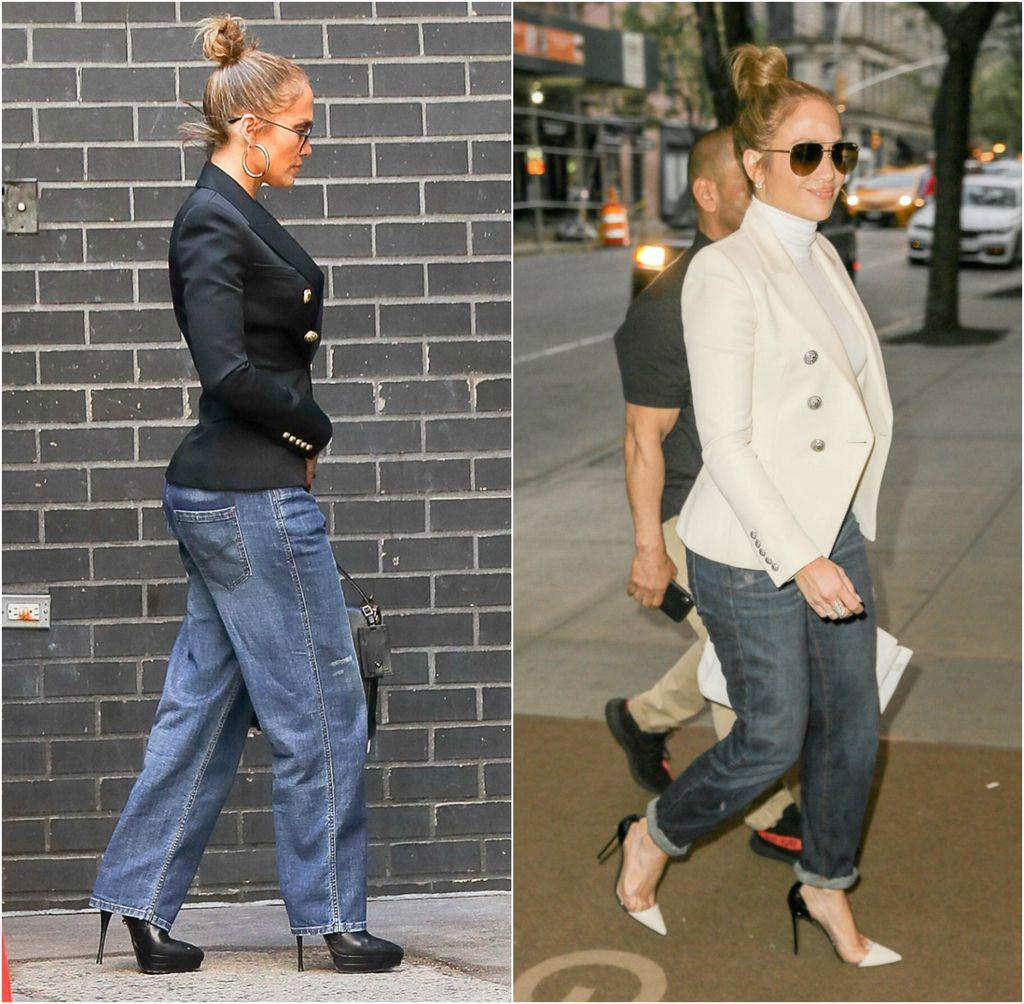 Dugačke i široke traperice ravnog kroja ne laskaju njezinoj figuri za razliku od podvinutog modela boyfriend kroja