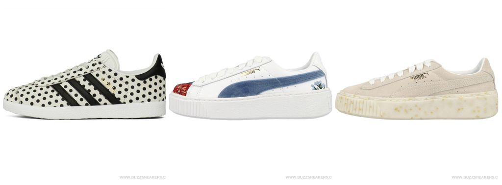 GAZELLE W, Buzz Sneakers, 749 kn; PUMA Platform Hyper Emb Wn\'s, Buzz Sneakers, 919 kn; Suede Platform Celebrate Wn\'s, Buzz Sneakers, 849 kn