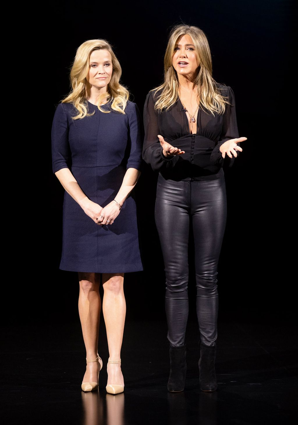 Jennifer u klasičnim kožnatim hlačama na predstavljanju svoje nove serije