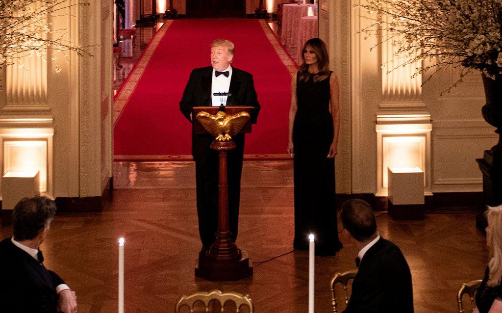 Prva dama na svečanoj večeri u Bijeloj kući