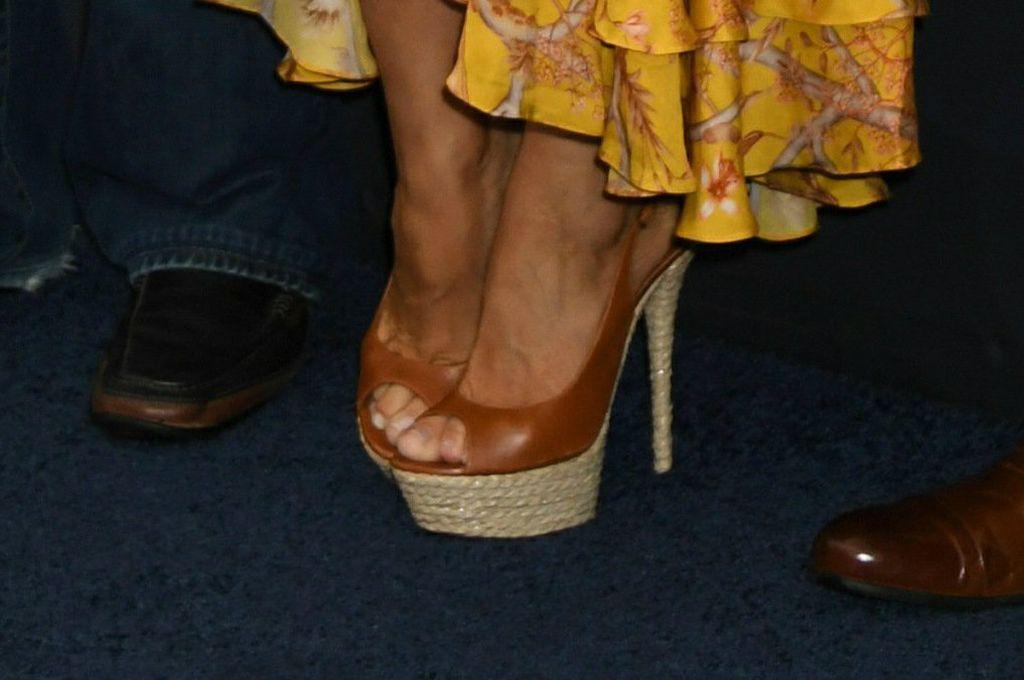 Glumica je nosila cipele koje su kombinacija platformi, špagerica i štikli