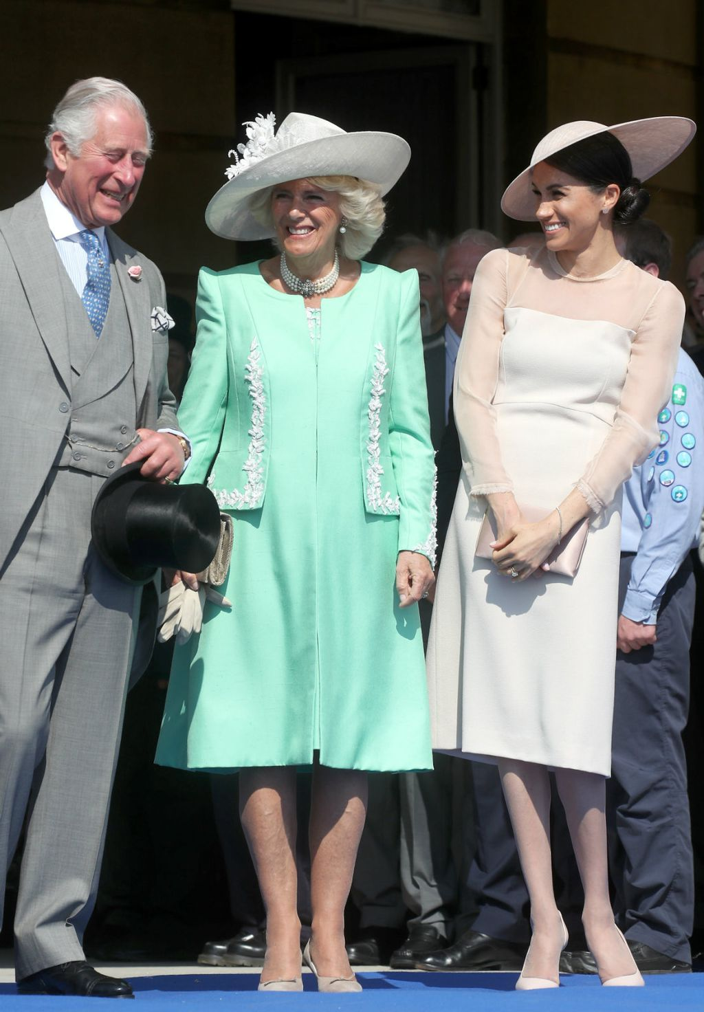 Iako inače izbjegava najlonke, Meghan ih je nosila na kraljičinoj zabavi povodom rođendana princa Charlesa