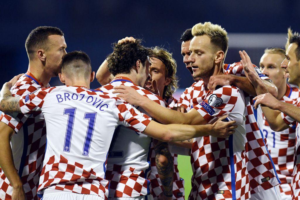 Slavlje Hrvatske protiv Grčke (Foto: AFP)
