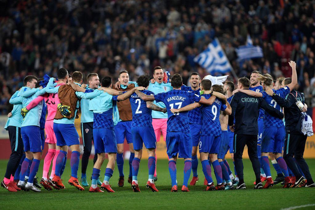Slavlje hrvatskih nogometaša (Foto: Igor Kralj/Pixsell)