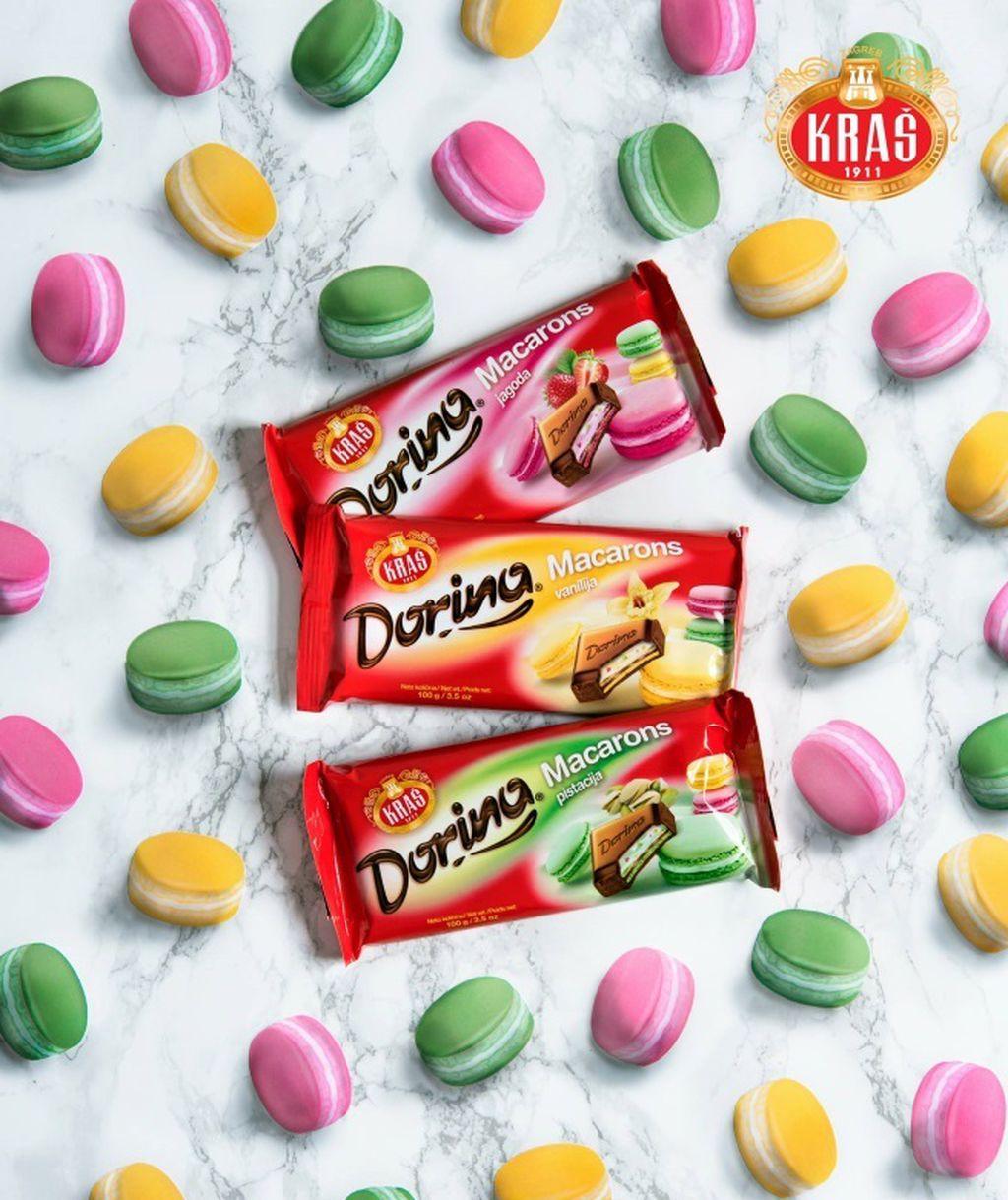 Nove čokolade Dorina Macarons s okusom vanilije, jagode i pistacije - 2