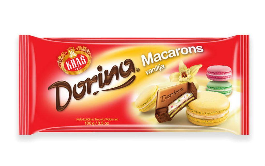 Nove čokolade Dorina Macarons s okusom vanilije, jagode i pistacije - 3
