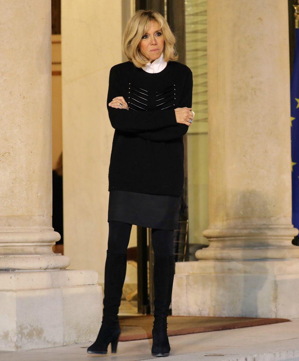 Brigitte Macron na sastanku u Elizejskoj palači - 5
