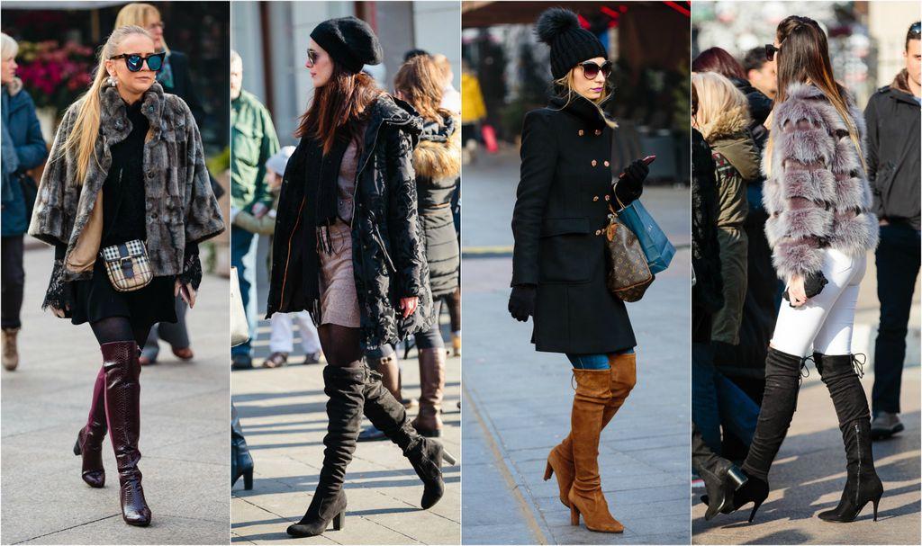 Čizme iznad koljena prošle zime bile su apsolutni hit na ulicama Zagreba