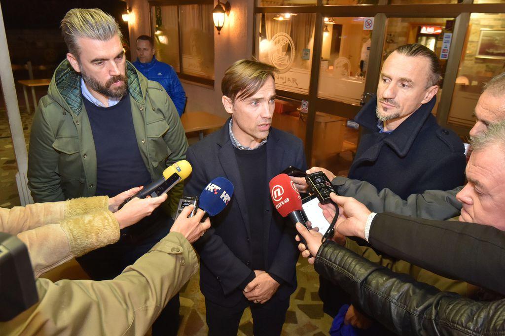 Dario Šimić, Stipe Pletikosa i Mario Stanić (Foto: Dino Stanin/PIXSELL)