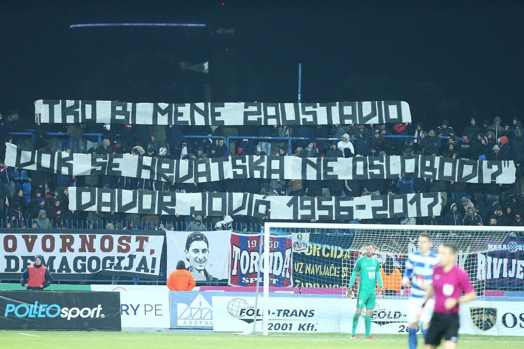 Torcidina poruka za Davora Jovića (Foto: Davor Javorović/PIXSELL)