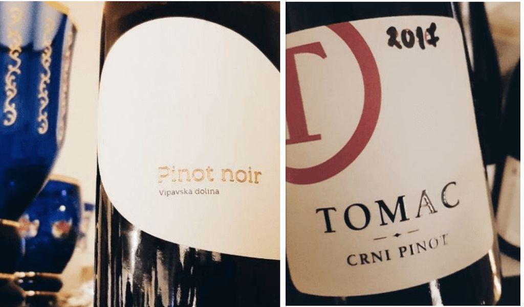 Pasji rep Pinot Noir 2016. i Tomac crni pinot 2017.