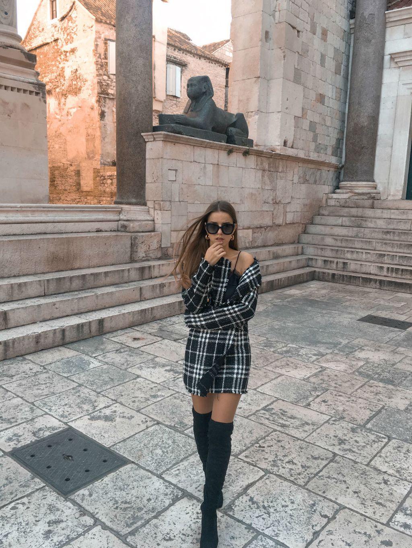 Modna blogerica Anita Martinović u kompletiću od tvida - 3
