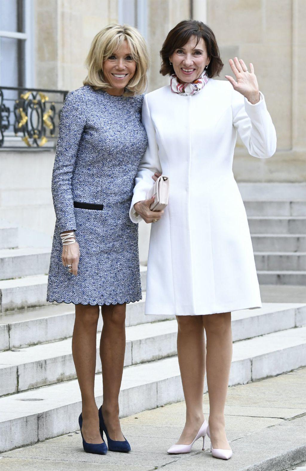 Brigitte Macron u haljini čiji kroj lako sakrije trbuščić - 2