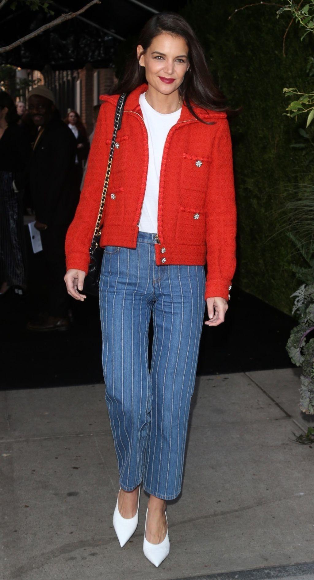 Katie Holmes u hlačama koje izgledaju bolje uz visoke potpetice - 2
