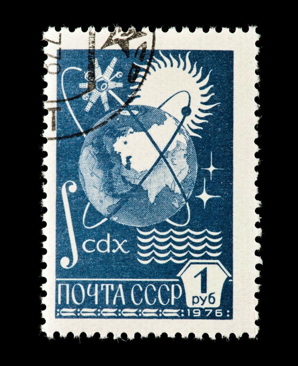 Sputnjik 1 na poštanskoj markici