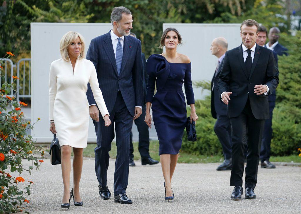Brigitte Macron, kralj Felipe, kraljica Letizia i Emmanuel Macron