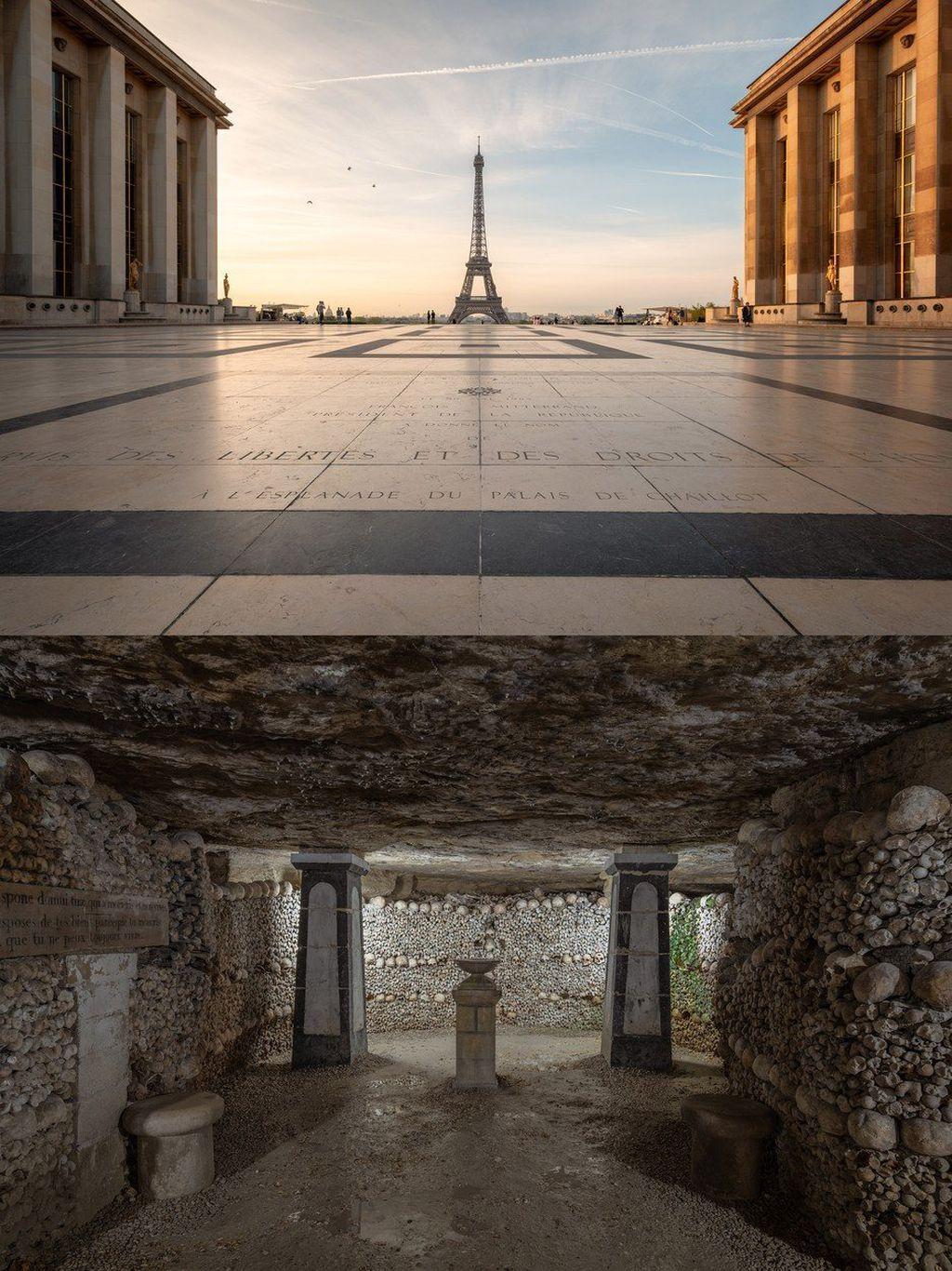 Ispod Eiffelovog tornja nalaze se hodnici s posmrtnim ostacima 6 milijuna ljudi.