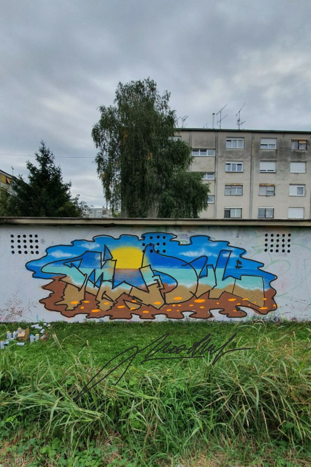 Graffit posvećen ljetu (docrtano S Penom na Samsung Galaxy Note10+) - 1