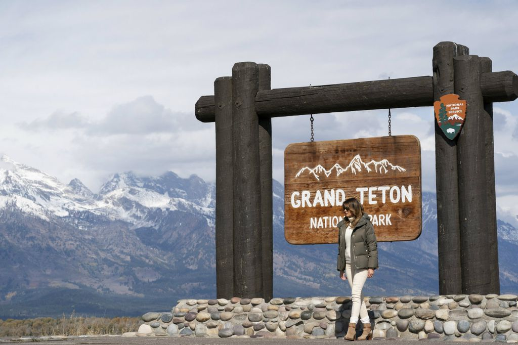 Melania Trump u Nacionalnom parku Teton