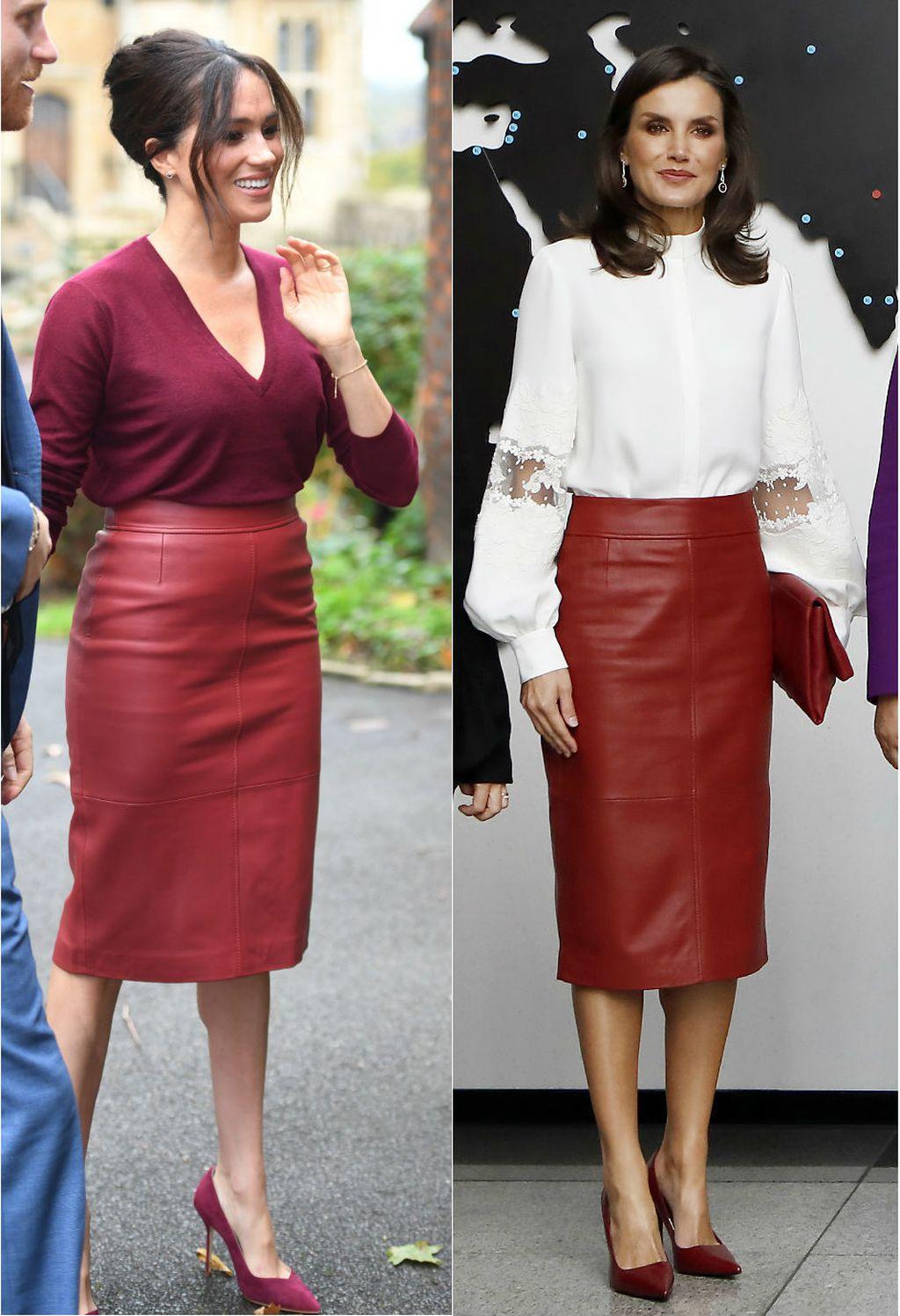 Kraljica Letizia vs. Meghan Markle u Hugo Boss suknji - 1
