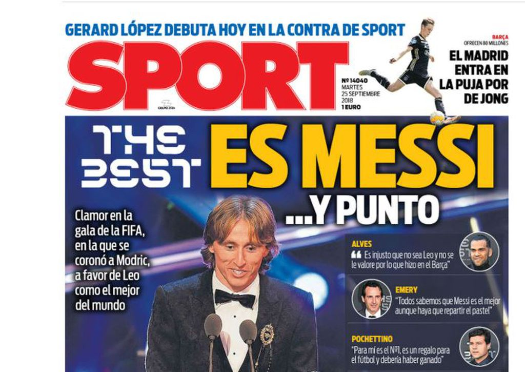 Naslovnica Sporta (Foto: Screenshot)