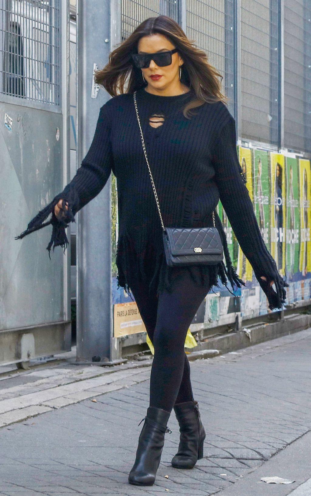 Eva Longoria u gležnjačama na visoku petu i tajicama - 1