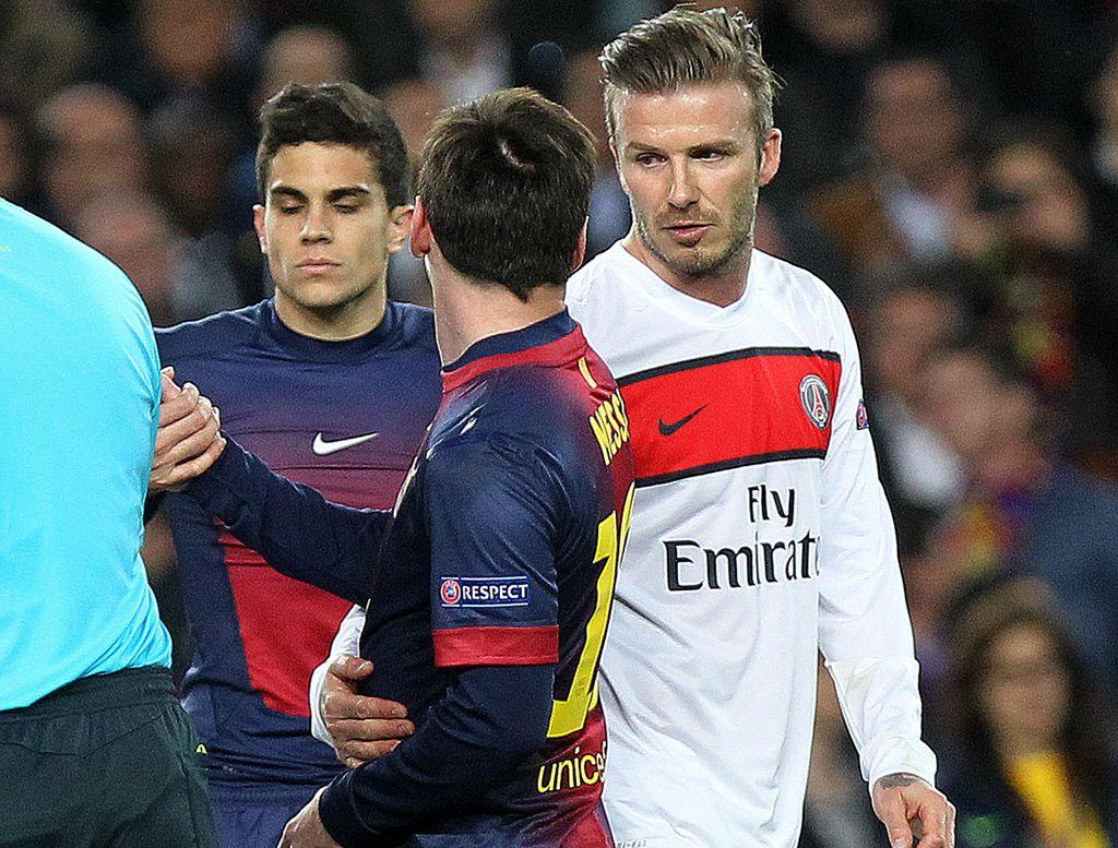 Lionel Messi i David Beckham (Foto: AFP)
