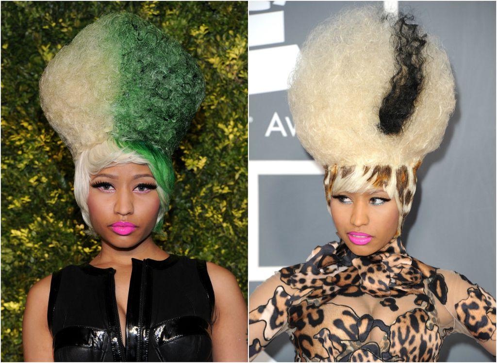 Instalacije na glavi Nicki Minaj