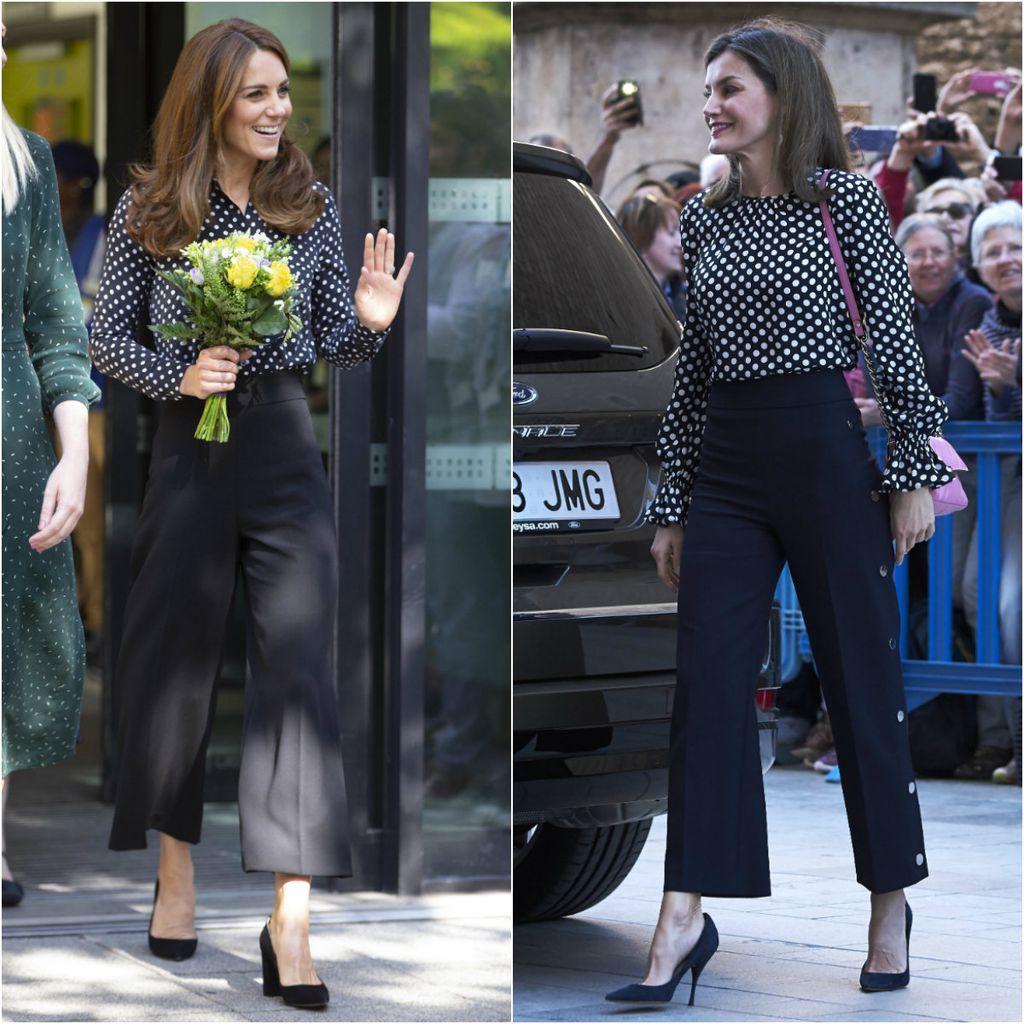 Catherine Middleton i kraljica Letizia u vrlo sličnim kombinacijama