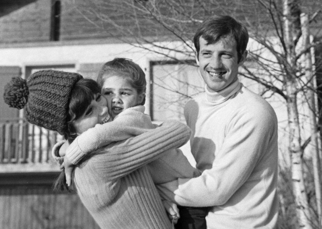 Elodie Constantin i Jean-Paul Belmondo s kćerkicom Florence