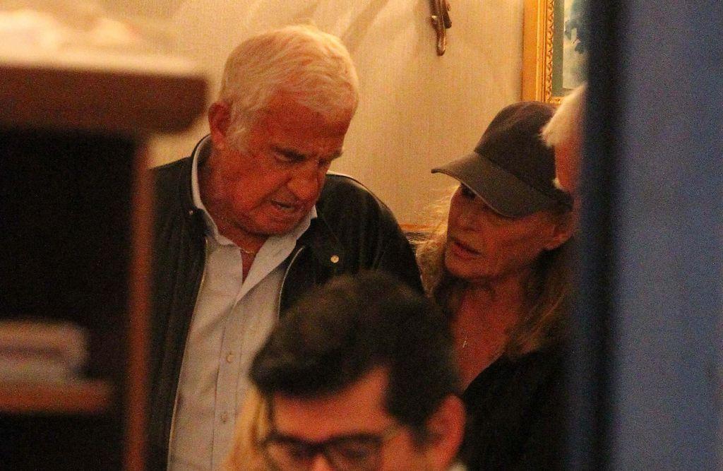 Jean-Paul Belmondo i Ursula Andress 2014. na ručku u Rimu
