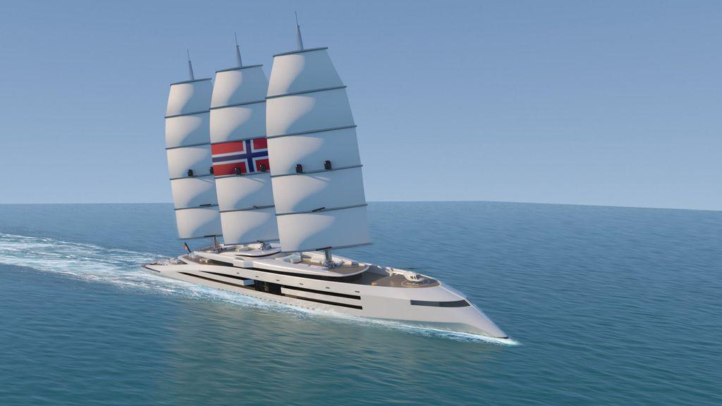 Superjahta nadahnuta vikinškim brodovima