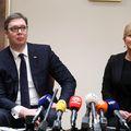 Aleksandar Vučić i Kolinda Grabar-Kitarović (Foto: Goran Stanzl/PIXSELL)