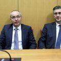 Damir Krstičević i Andrej Plenković (Foto: Patrik Macek/PIXSELL)