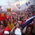 navijačko ludilo na dočeku na Trgu bana Jelačića (Foto: Petar Glebov/PIXSELL)