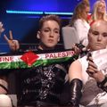 Zastava Palestine na Eurosongu (Screenshot: YouTube)