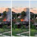 Požar barake u zagrebačkom Trnju
